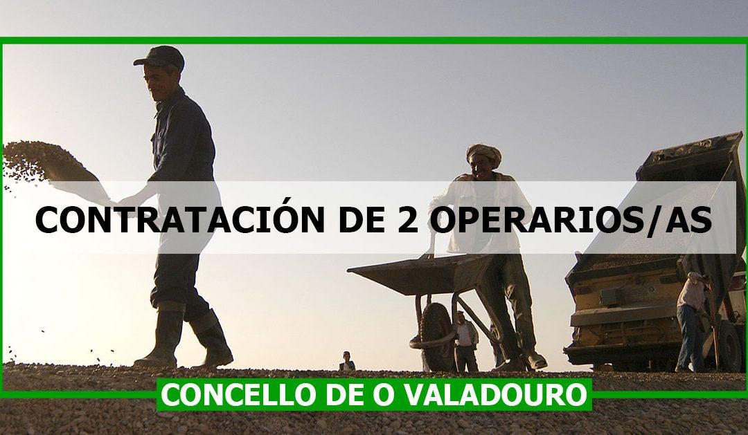 Contratación de 2 Operarios/as