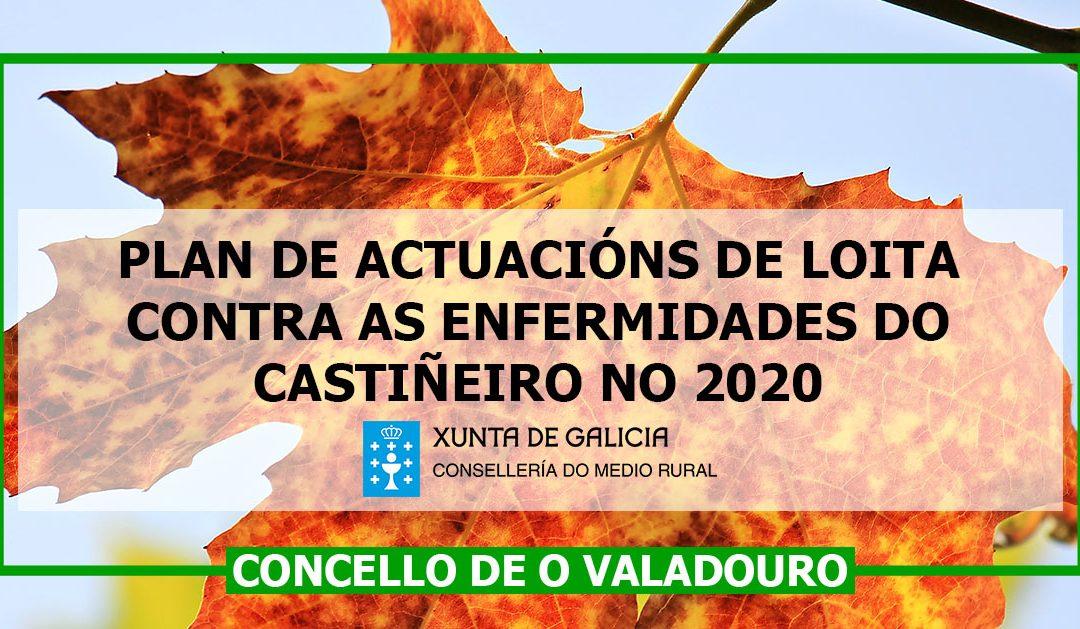 Plan de actuacións de loita contra as enfermidades do castiñeiro no 2020