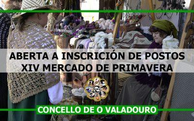 Aberta a inscricións de postos para o XIV Mercado de Primavera